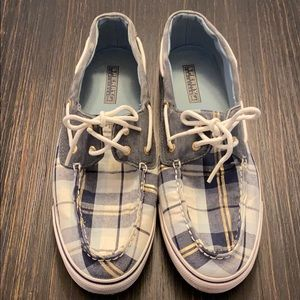 Blue Plaid Sperry's Top-Siders